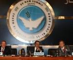 Raul Castro con Hosni Mubarak y Ban Ki-Moon.
