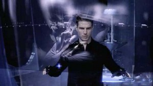 Tom Cruise en Minority Report.