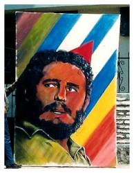 9 de agosto, Quito. Este es el cuadro que Fidel Castro se llevó a Cuba.