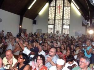 Antiguos miembros de los Young Lord acudieron a la First Spanish Methodist Church de El Barrio.(Manny Patiño/El Diario La Prensa)
