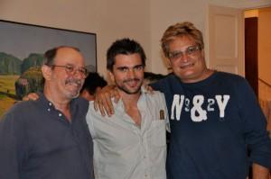 Silvio, Juanes y Amaury. (Cortesía de La Jiribilla)