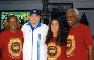 El Rev. Lucius Walker, Fidel Castro, Ellen Bernstein, Rev. Tom Smith (Fotos cortesía de Pastores por la Paz)