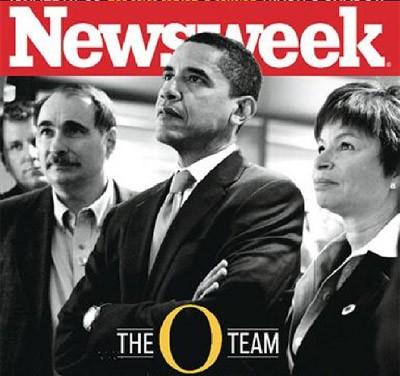 Vallerie Jarret (a la derecha) y Obama, en una portada de Newsweek.