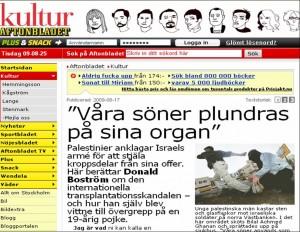 El artículo sueco sobre el robo de órganos es periodismo barato y dañino