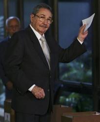 El General de Ejército Raúl Castro, Presidente de Cuba.