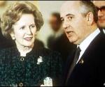 Margaret Thatcher y Mijail Gorvachov. Foto: AP