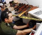 Armas en poder de terroristas. Foto: El Deber, Bolivia.