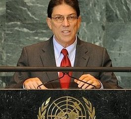 Bruno Rodríguez, canciller Cubano.