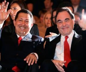 Chavez y Oliver Stone en Venecia