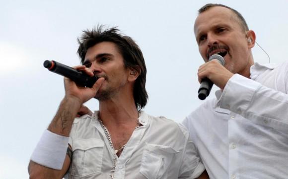 Juanes y Migel Bosé participan en el concierto Paz sin Fronteras (Fotos Roberto Morejón)
