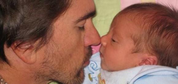 Juanes y Dante, foto publicada en Twitter.