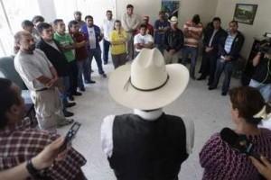 Manuel Zelaya en la Embajada de Brasil en Tegucigalpa. Foto: Reuters.