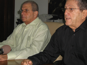 Abraham Maciques y Pedro Álvarez, presidentes de FIHAV 2009 y de la Cámara de Comercio de Cuba, respectivamante