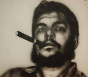 Antonio Guerrero dibuja al Che Guevara
