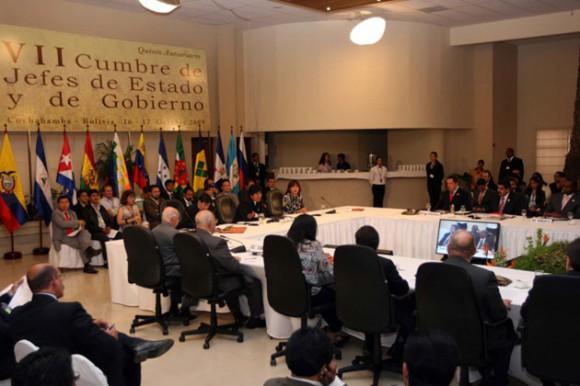 Cumbre del ALBA en Cochabamba (Foto ABN)