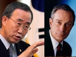 Ban Ki-moon y Bloomber.