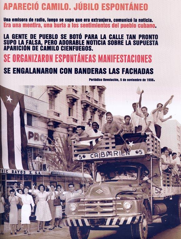 Falsa información sobre aparición de Camilo Cienfuegos