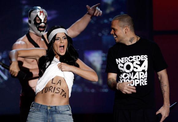 """Residente Calle 13 en MTV """"Mercedes Sosa sonará X100PRE"""" (Foto AP)"""