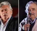 Candidatos Uruguay: Luis Alberto Lacalle y José (Pepe) Mujica. Foto: AFP