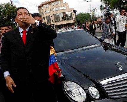 Chavez en Cochabamba (Foto: AP)