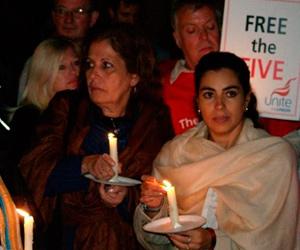 Concentración frente a la Embajada de Estados Unidos en Lodres