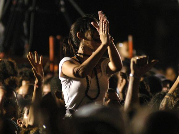 Público reunido durante el Concierto Homenaje al Che Guevara