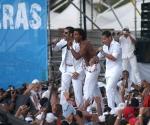 Los Orishas en el Concierto Paz sin Fronteras, en Cuba, 20 de septiembre de 2009.