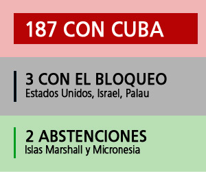 Votación récord: 187 países contra el Bloqueo
