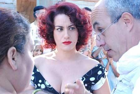 Con la actriz Blanca Rosa Blanco