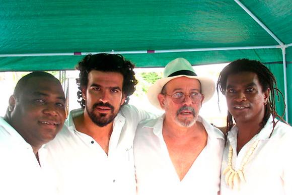 Silvio, Mayito y Ernesto en el Concierto Paz sin Fronteras