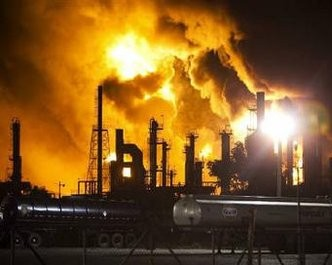 Explosión de refinería en Puerto Rico (Foto: Reuters)