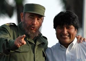 Evo regocijado por la anunciada intervención de Fidel
