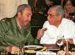 Fidel Castro y Gabriel García Marquez en La Habana.