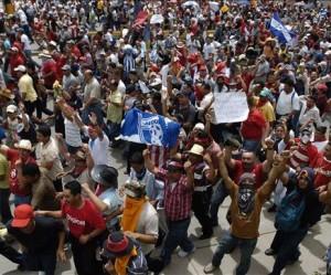 Honduras Manifestacion