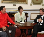 Chávez y Sean Penn Foto: Juan Carlos Solórzano / Prensa Miraflores