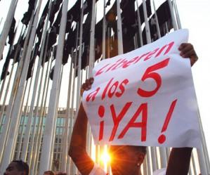 Libertad para los Cinco Cubanos prisioneros en Estados Unidos