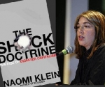 Naomi Klein en la presentación de The Shock Doctrine.