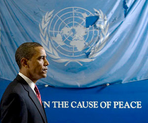 "Obama ""Cause of Peace"""