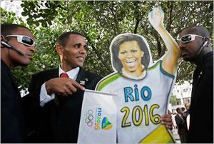 En Brasil, hasta Michelle Obama celebró la selección de Rio