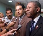 Bethuel Pakalitha Mosisili, Primer Ministro de Lesotho, ofrece declaraciones a la Prensa a su llegada a Cuba