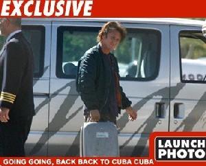Sean Penn llegó a la Isla de la Juventud