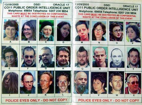 Sociedad de la Vigilancia y el Control: Manifestantes fichados por policía británica