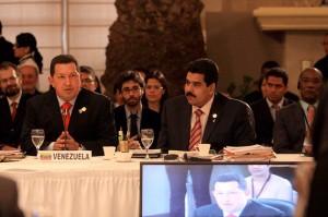 Chávez y el Canciller Maduro