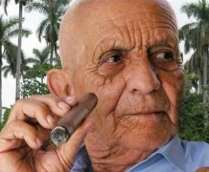 Alejandro Robaina, el más célebre productor de tabaco de Cuba.
