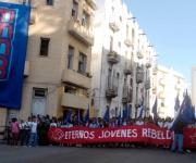 Estudiantes de la enseñanza media en el acto central por el aniversario 138 del fusilamiento de los ocho estudiantes de medicina, en La Habana, Cuba, el 27 de noviembre de 2009. Foto: Abel Ernesto Rubio Estrada