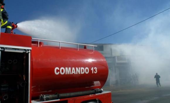 Simulacro de incendio durante el Ejercicio Estratégico Bastión 2009, en Guines, provincia La Habana, el 28 de noviembre de 2009 .AIN FOTO/Marcelino VAZQUEZ HERNANDEZ