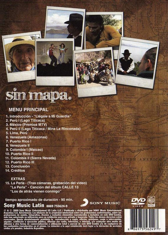Calle 13 - Sin Mapa (Reverso)