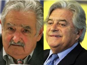 CANDIDATOS. Mujica (izq) y Lacalle (der), uno sólo será electo presidente este domingo.
