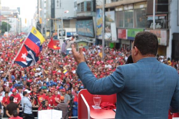 Concentración en Venezuela contras las Bases Militares en Colombia