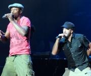 MC Solaar (izquierda) y Jehro (derecha), cantantes franceses